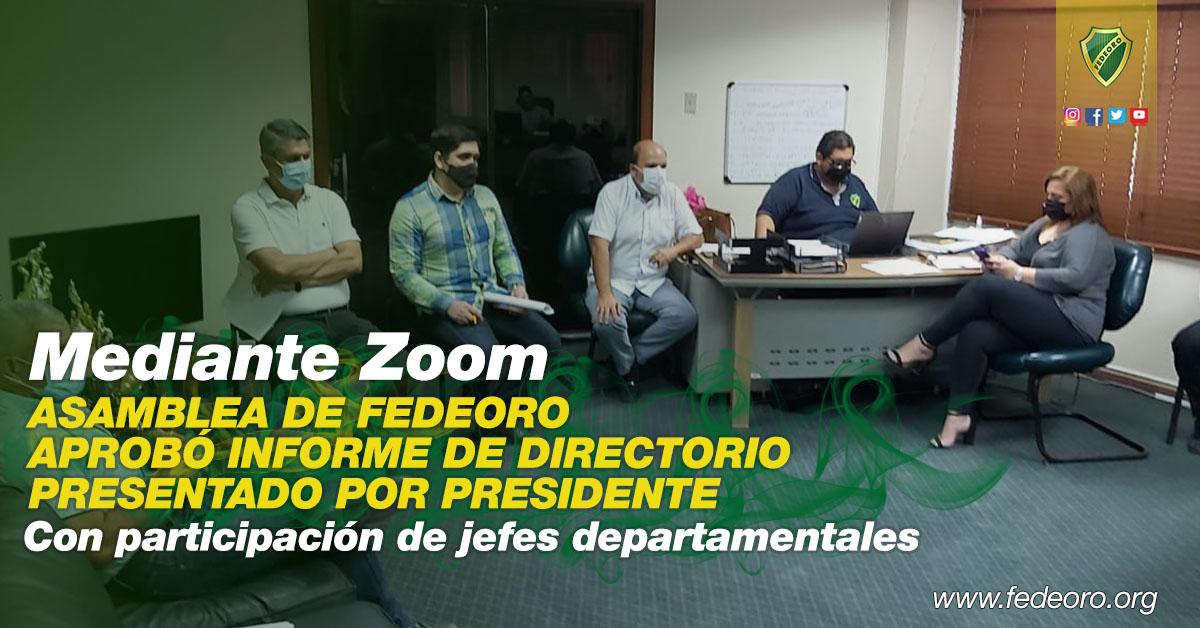 ASAMBLEA DE FEDEORO APROBÓ INFORME DE DIRECTORIO PRESENTADO POR PRESIDENTE