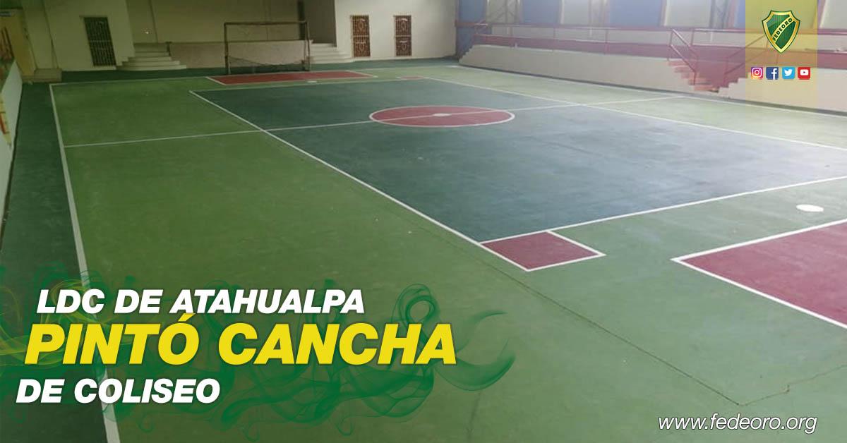 LDC DE ATAHUALPA PINTÓ CANCHA DE COLISEO