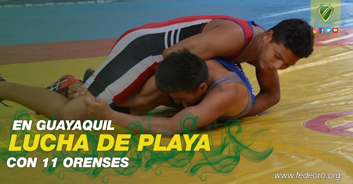 LUCHA DE PLAYA EN GUAYAQUIL CON 11 ORENSES