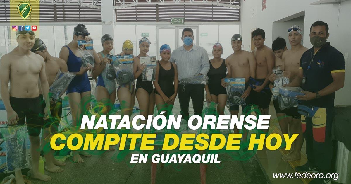 NATACIÓN ORENSE COMPITE DESDE HOY EN GUAYAQUIL