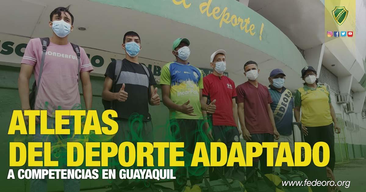 ATLETAS DEL DEPORTE ADAPTADO A COMPETENCIAS EN GUAYAQUIL