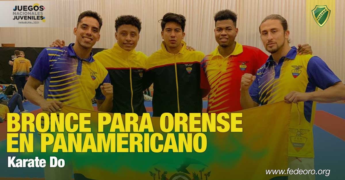 BRONCE PARA ORENSE EN PANAMERICANO DE KARATEDO