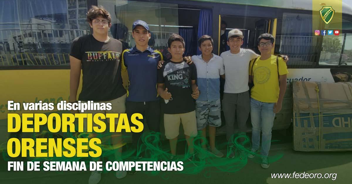 En varias disciplinas FIN DE SEMANA DE COMPETENCIAS PARA DEPORTISTAS ORENSES