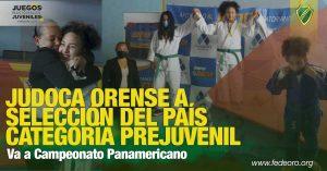 Va a Campeonato Panamericano JUDOCA ORENSE A SELECCIÓN DEL PAÍS CATEGORÍA PREJUVENIL