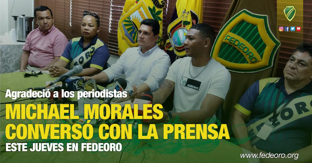 Agradeció a los periodistas MICHAEL MORALES CONVERSÓ CON LA PRENSA ESTE JUEVES EN FEDEORO